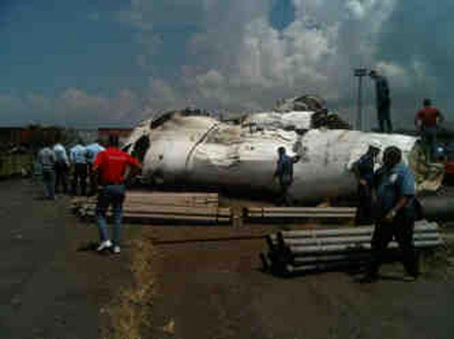Fotos del Avión de Conviasa Estrellado en SIDOR 2