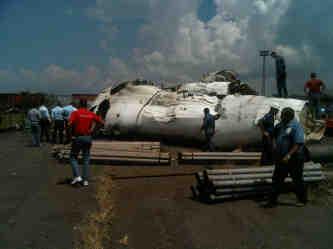 Fotos del Avión de Conviasa Estrellado en SIDOR