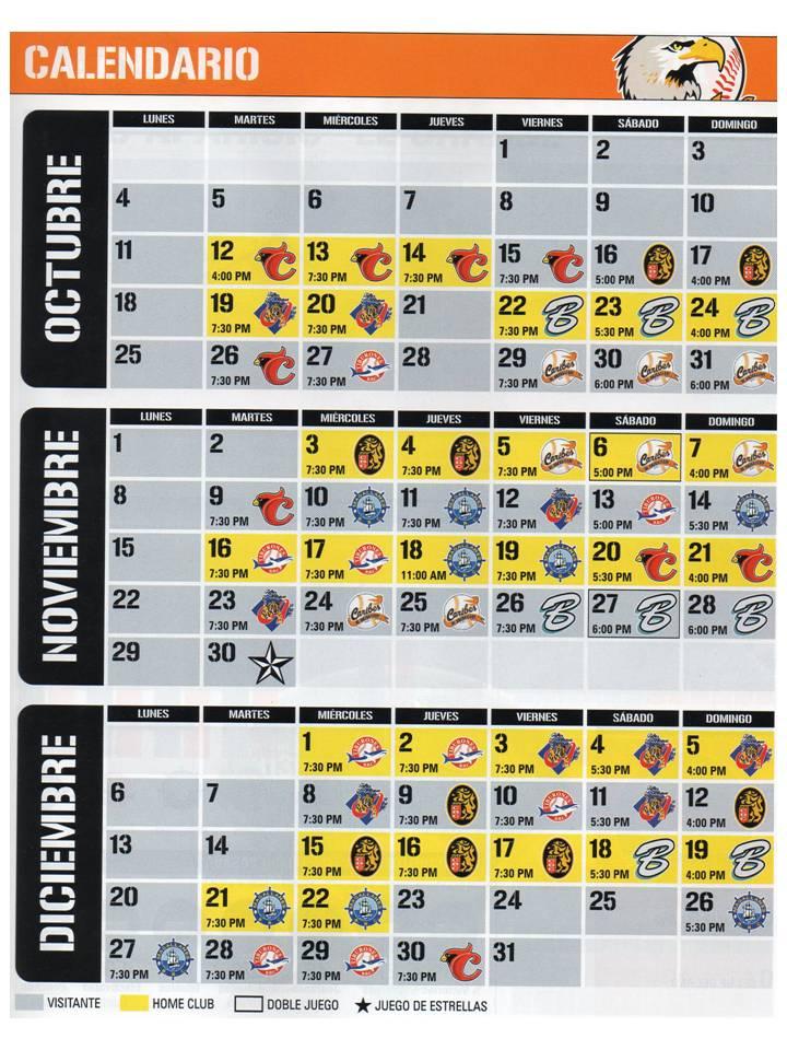 calendario Aguilas
