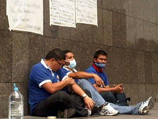 estudiantes en huelga de hambre