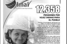 Nueva lista de pensionados en Amor Mayor del 6 de Mayo de 2012
