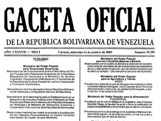 GACETA OFICIAL DE HOY