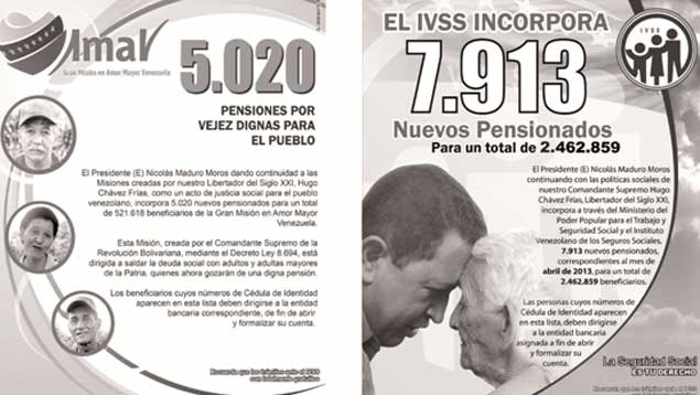 descarga las listas de pensionados por la Gran Misión en Amor Mayor