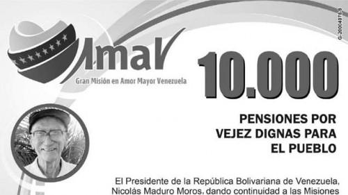 Listas de pensionados por Amor Mayor y el Ivss (15/09/2013)