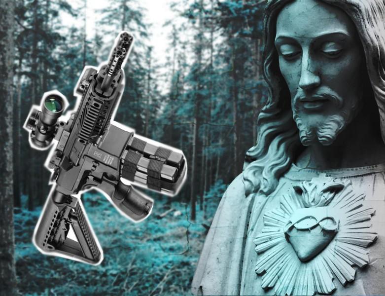 Estatua-fusil