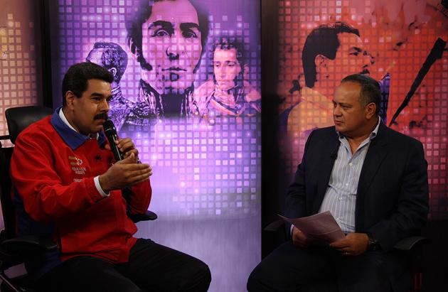 Presidente Nicolás Maduro y Diosdado Cabello