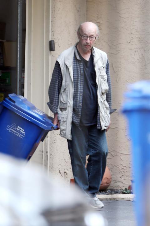 EXCLUSIVE Max Wright Outside His Modest Apartment