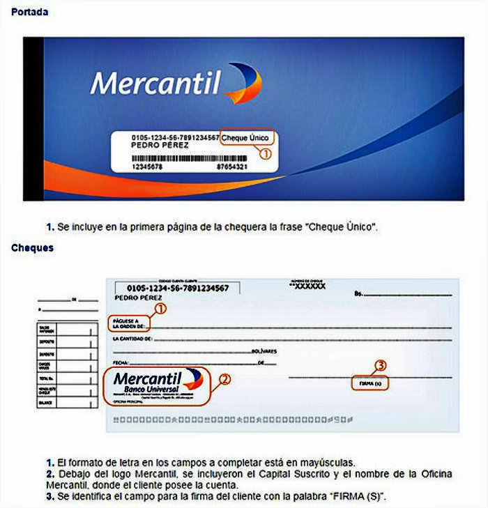Chque-Unico-Banco-Mercantil-