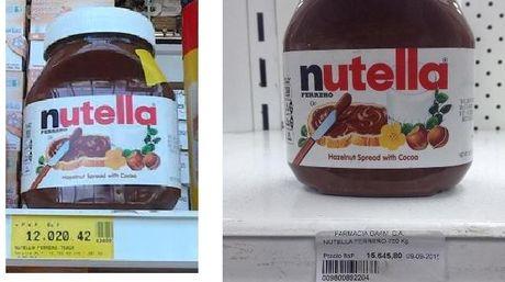 Una Nutella vale dos o más sueldos mínimos