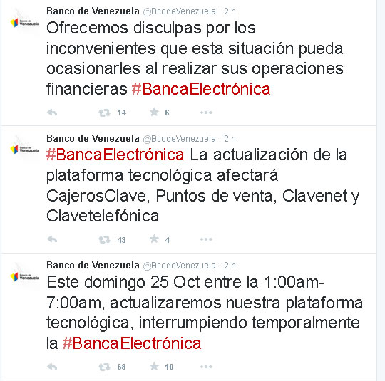 Atenci n plataforma del banco de venezuela estar sin Banco venezuela clavenet