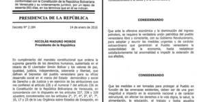 Texto Completo de la Gaceta Oficial del Decreto de Emergencia Económica Gaceta Oficial 40828 (2)