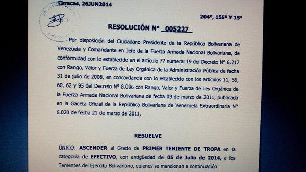 Jhon Carlos Cuadros, detenido por droga en Cojedes, fue ascendido a sargento primero el 5 de julio de 2015 – Cortesía: Rojas 2016