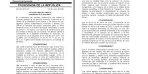 Gaceta  oficial  40993 el Decreto de Estado de Excepción (1)