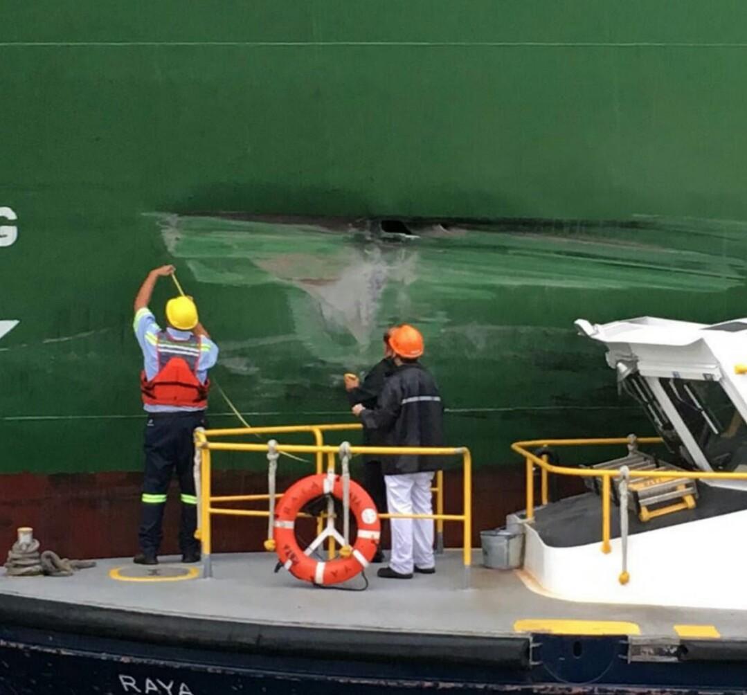 buque chino canal panama averiado
