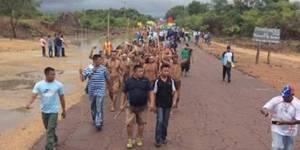 Etinas marchan desde Amazonas a Caracas por el referendo
