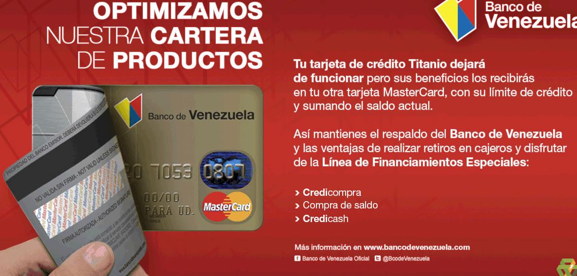 Banco de venezuela elimina la tarjeta titanio lea aqu for 0banco de venezuela