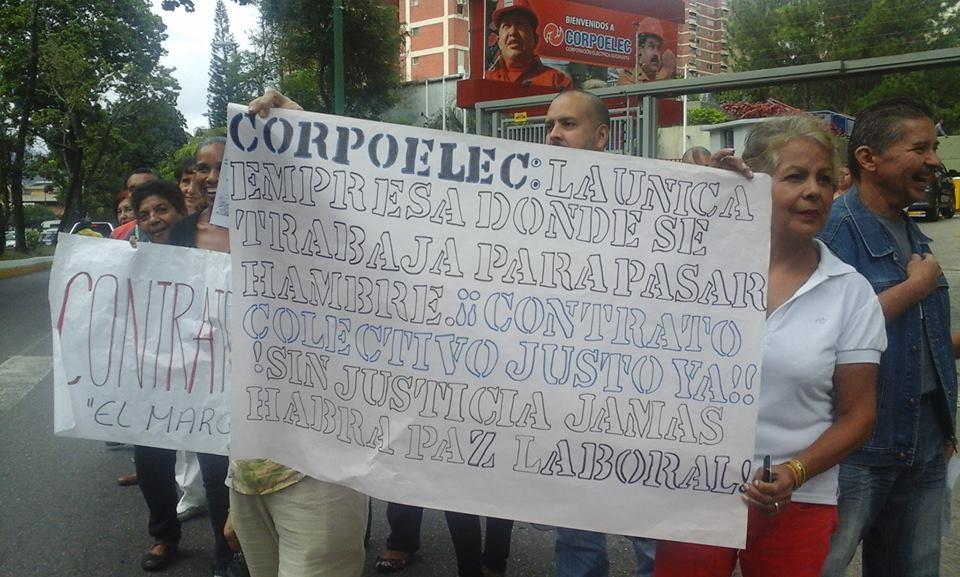 rechazo de salarios de los trabajadores de corpoelec