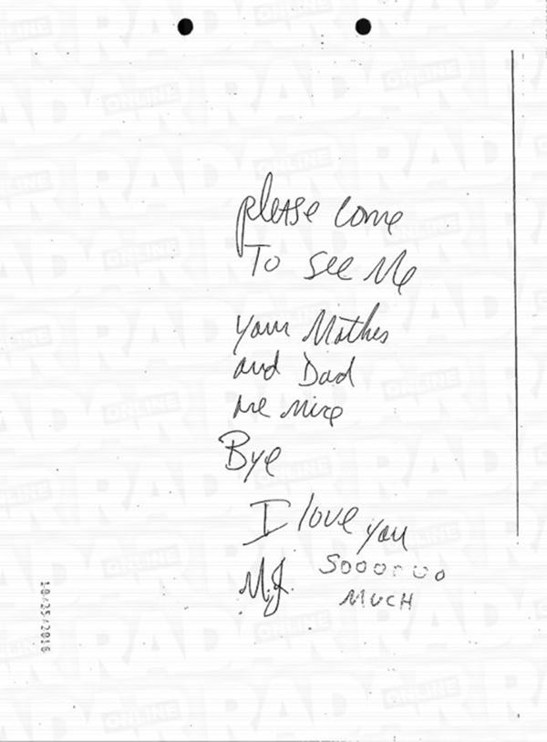 Cartas de mickael jackson