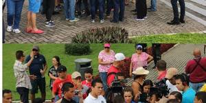 imágenes de la protesta xenofoba en Panamá