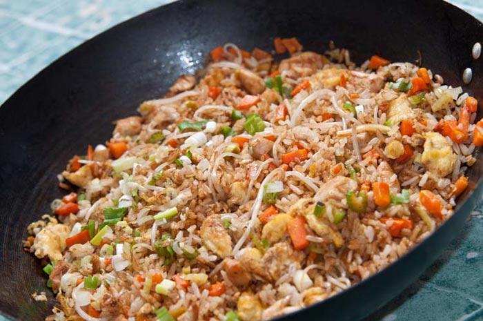como hacer arroz chino casero