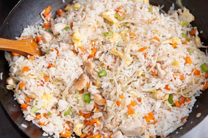 ccomo se hace el arroz chino