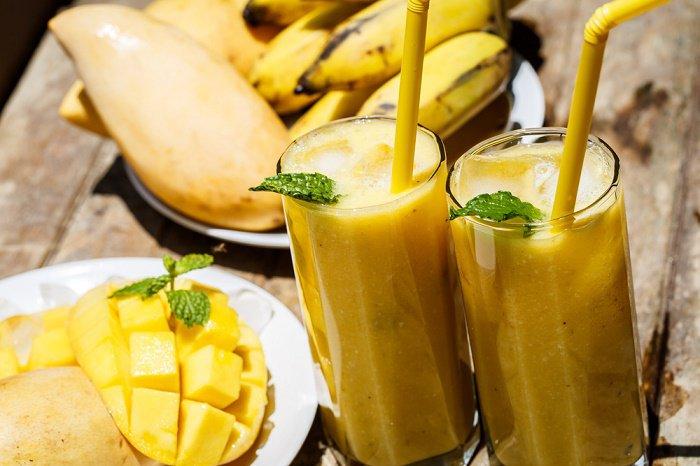 Resultado de imagen para licuado de banana y mango