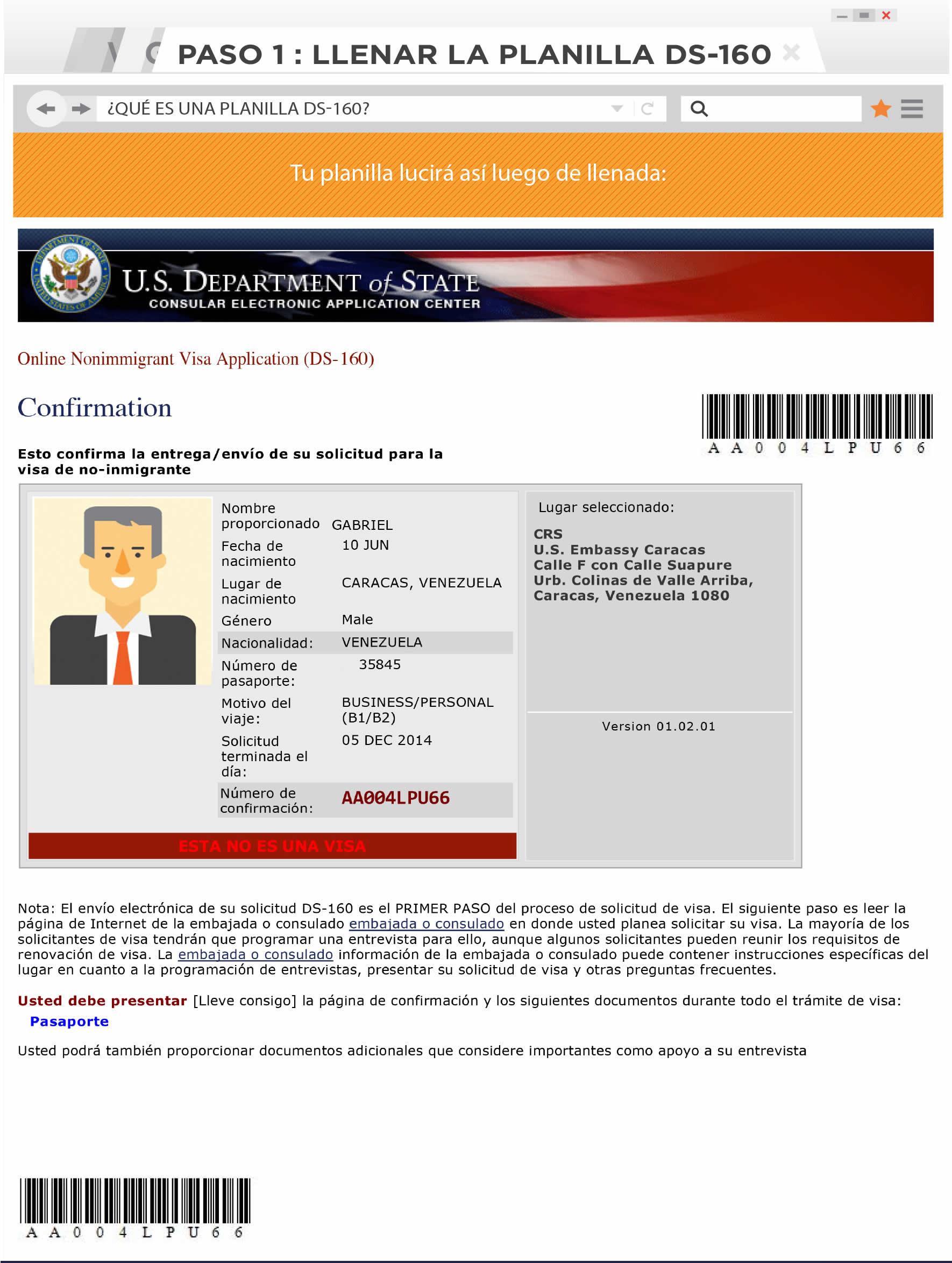 Como realizar la cita para la visa en la Embajada de Estados Unidos en Venezuela (5)