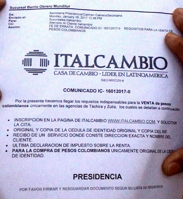 REQUISITOS PARA COMPRAR PESOS EN LAS NUEVAS CASAS DE CAMBIO