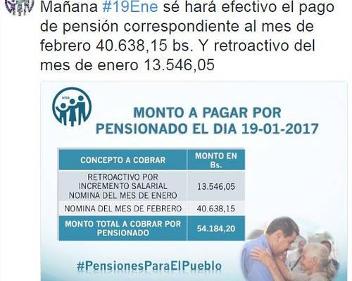 Pensionados cobrar n bs este jueves - Se cobra la pension el mes de fallecimiento ...