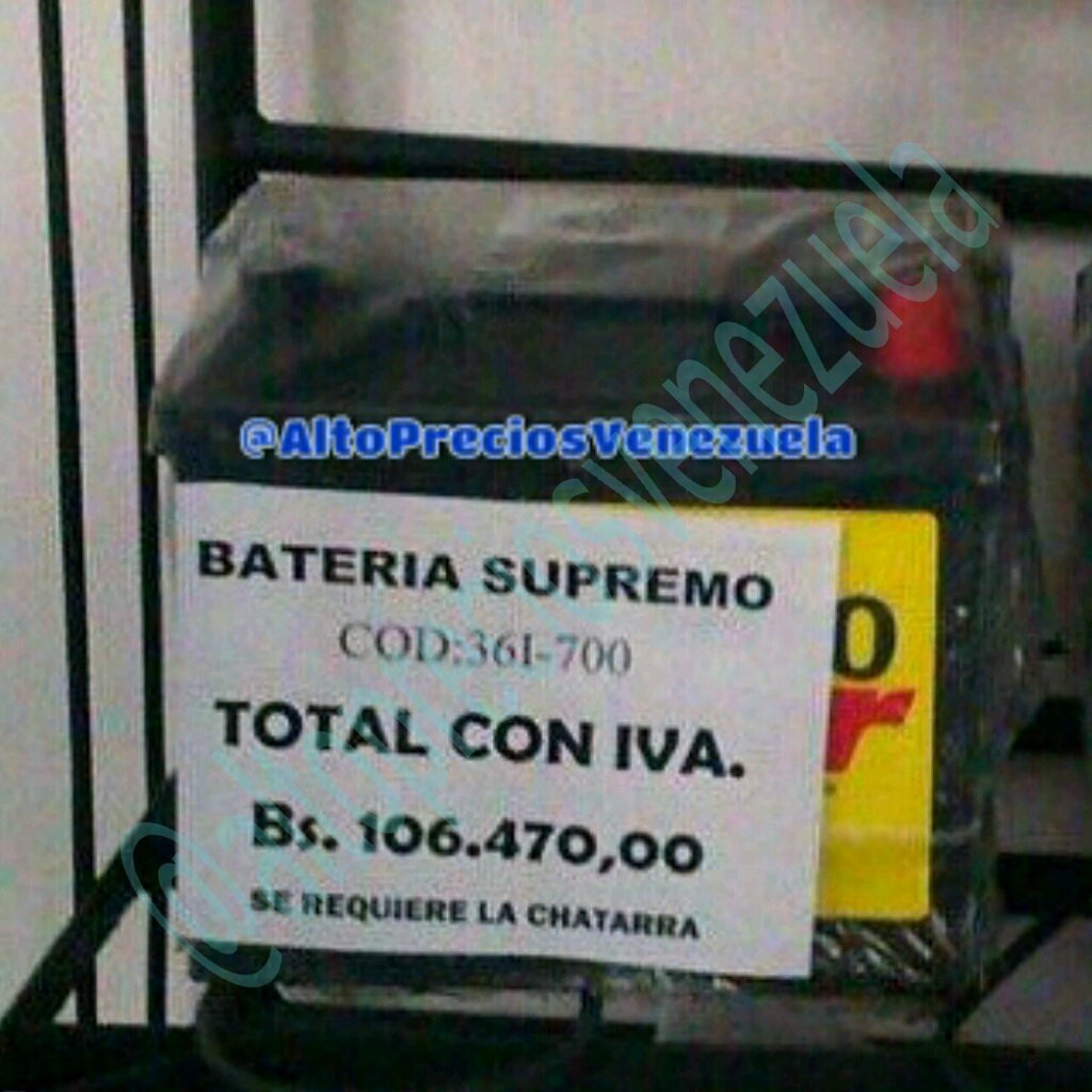 Precios baterias venezuela 3 for Precios de futones nuevos