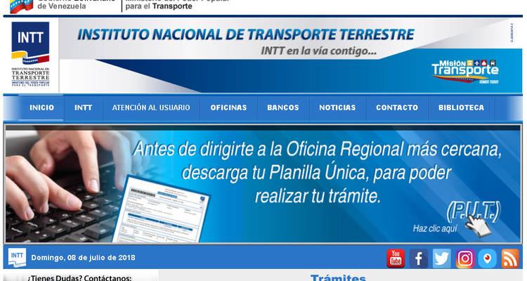 Pasos para Solicitar por primera vez o renovar la Licencia de Conducir en la Página Web del INTT