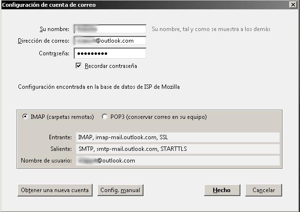 Cómo gestionar tu correo Hotmail desde Mozilla Thunderbird paso 3