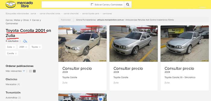 VENTA DE CARROS USADOS EN VENEZUELA NO PUEDEN PUBLICAR LOS PRECIOS, SE MUEVEN DE FORMA IRREGULAR Y OSCURA, REALIZANDO TRASACCIONES EN DÓLARES