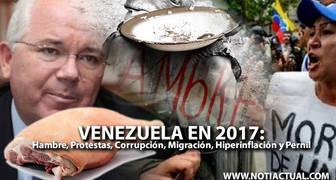 Venezuela en 2017: Hambre, Protestas, Corrupción, Migración, Hiperinflación y Pernil
