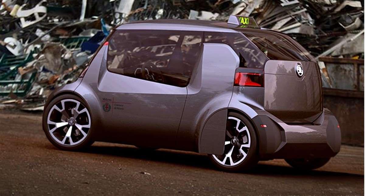 SKODA TAXI. No se ha fabricado aún, pero la marca checa ha propuesto esta solución para el taxi del mañana. No pinta mal