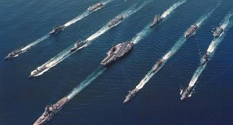 USS Missouri y USS Ranger