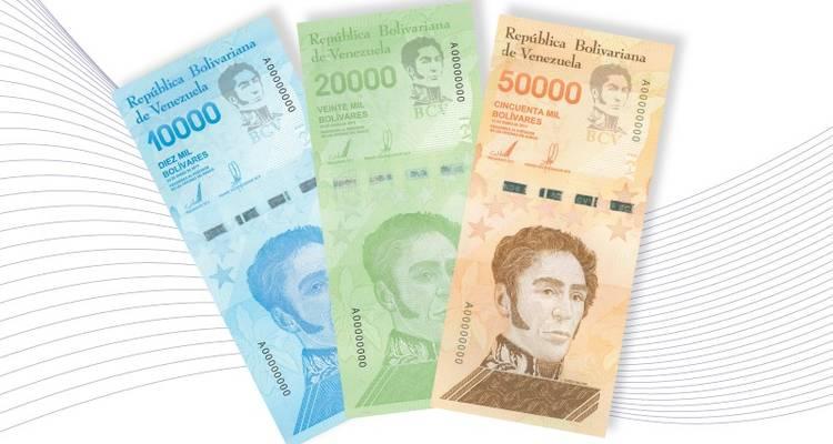 BCV agrega tres nuevos billetes al Cono Monetario 10000 20000 50000 venezuela