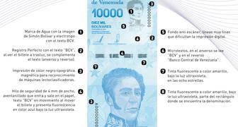 Nuevo billete de 10mi anverso Venezuela 2019