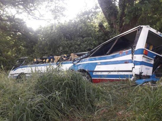 VOLCÓ autobús Encava de Expresos Jáuregui ZULIA VENEZUELA PERIJA (2)
