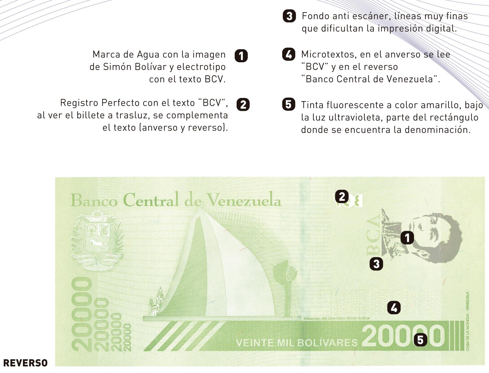nuevo billete de 20 mil reverso