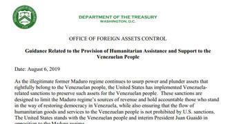 Excepciones a las sanciones económicas a Venezuela