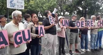 Protesta por Agua en Caracas Agosto 2019