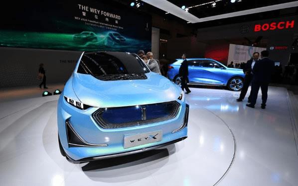 Un automóvil concepto X de la marca Wey de China