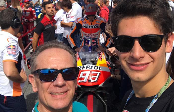 JONATHAN CECOTTO Y SU PADRE JOHNNY EN LA CARRERA DE MOTOGP EN MISANO 2019
