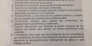 documento del dialogo entre opisicion y gobierno 2016
