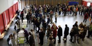 electores de eeuu hacen colas para votar