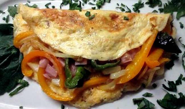 Omelette con pimientos