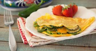Omelette de Calabacín Asado y Jalapeño