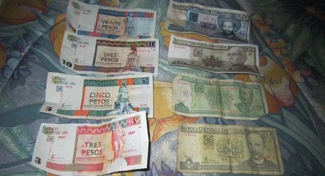 Pesos cubanos convertibles y no convertibles