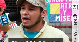 CNP Caracas exigiendo libertad plena para Colega Carlos Julio Rojas